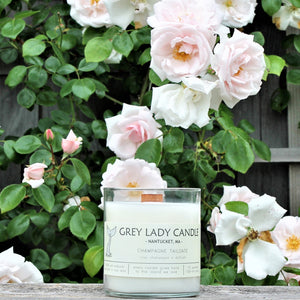 Grey Lady Candle - Nantucket, MA - Champagne Tailgate