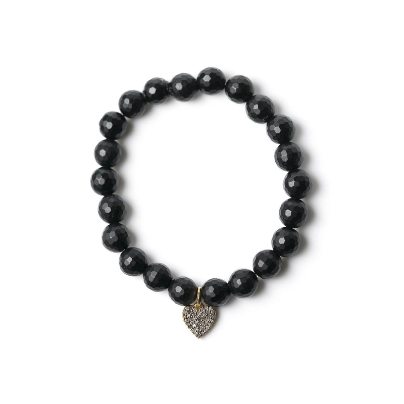 Diamond & Black Agate Bracelet