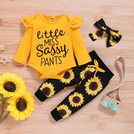 "Infant/Toddler Girl ""Little Miss Sassy"" Set"