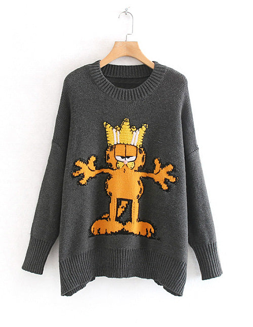 "Ladies Novelty Sweater ""Garfield"""