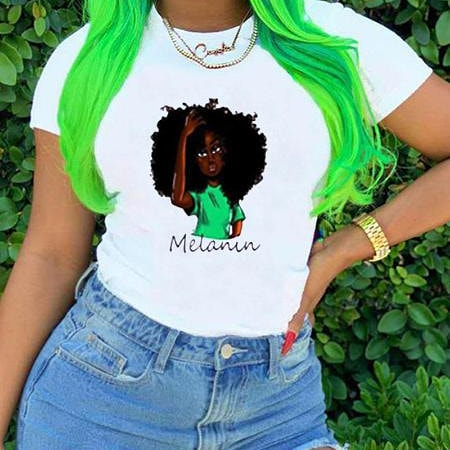 """Melanin"" Queen T-Shirt"