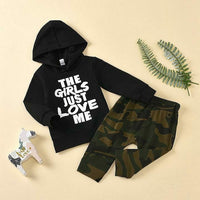 Boys 2 Piece Hooded Set
