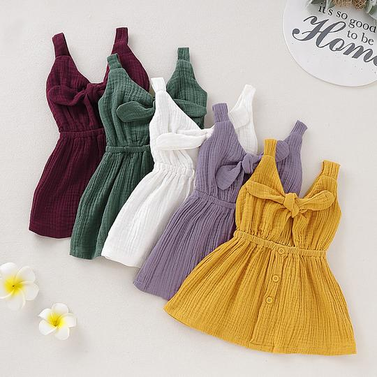 Linen Infant/Toddler Dress