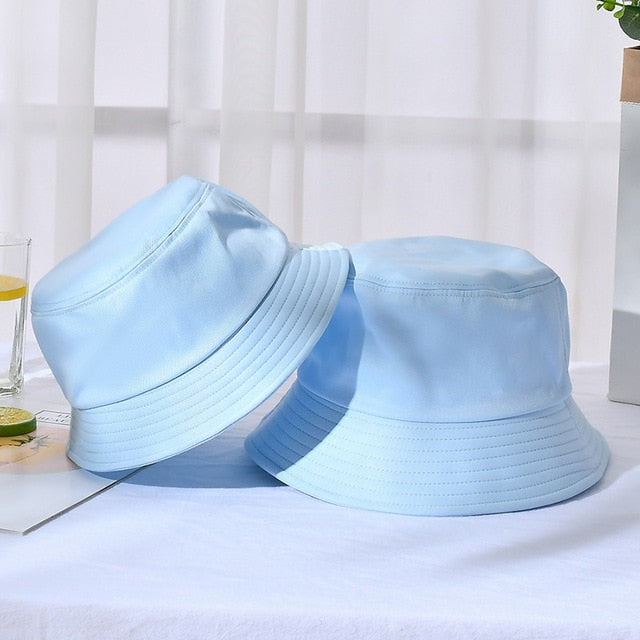 Sparsil Unisex Summer Foldable Bucket Hat Women Outdoor Sunscreen Cotton Fishing Hunting Cap Men Basin Chapeau Sun Prevent Hats
