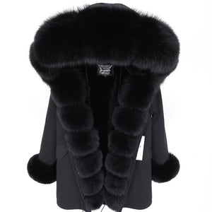 Russian Fox Fur winter coat filling with pure cotton