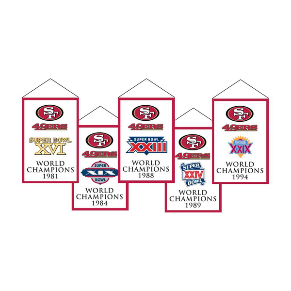 San Francisco 49ers Rafter Banner Replica Pack