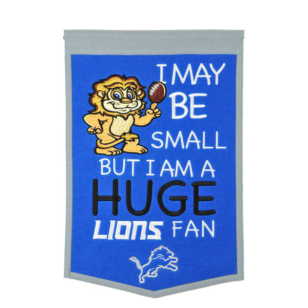 Detroit Lions Lil Fan Traditions Banner