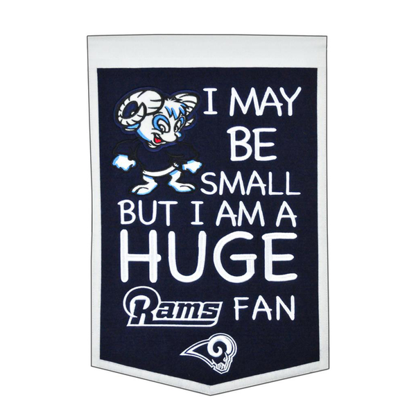 Los Angeles Rams Lil Fan Traditions Banner