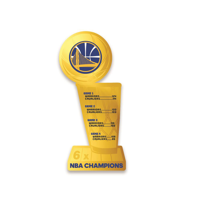 2018 NBA Champs Golden State Warriors Trophy Sign
