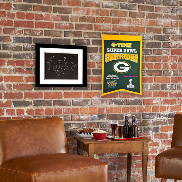 Green Bay Packers 4x Super Bowl Champs Banner