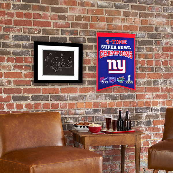 New York Giants 4x Super Bowl Champs Banner