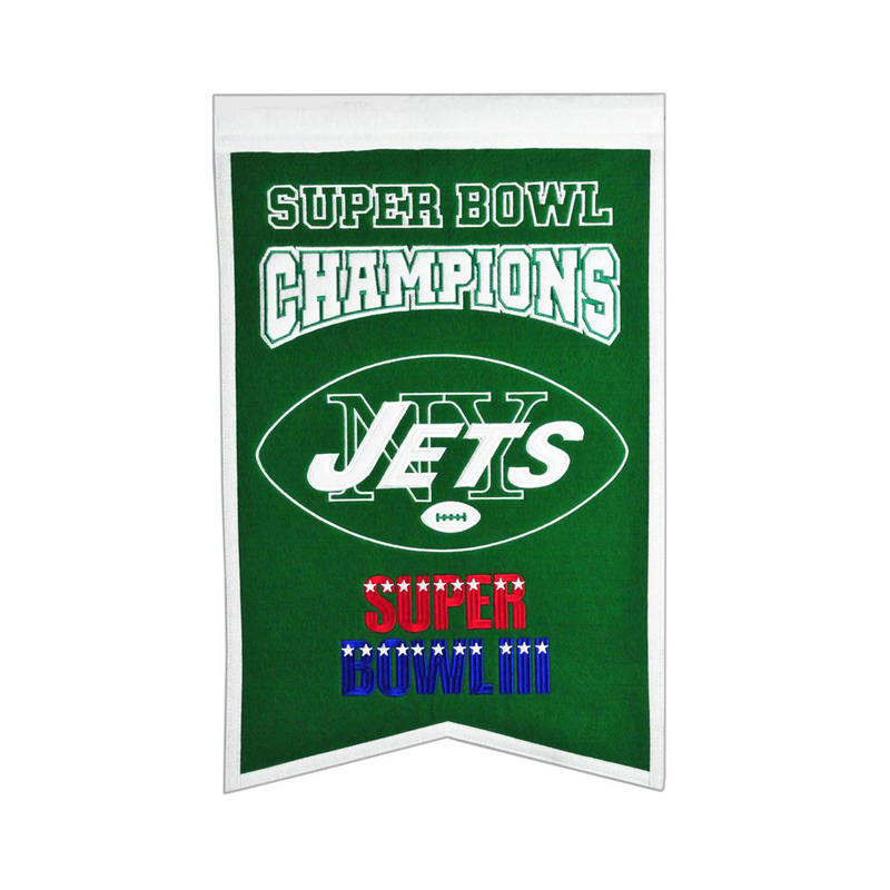 New York Jets Super Bowl Champs Banner
