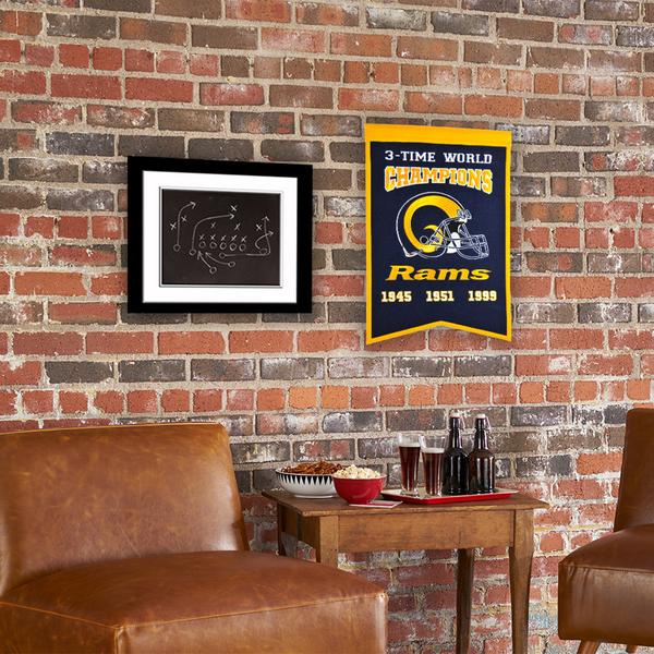 Los Angeles Rams Super Bowl Champs Banner