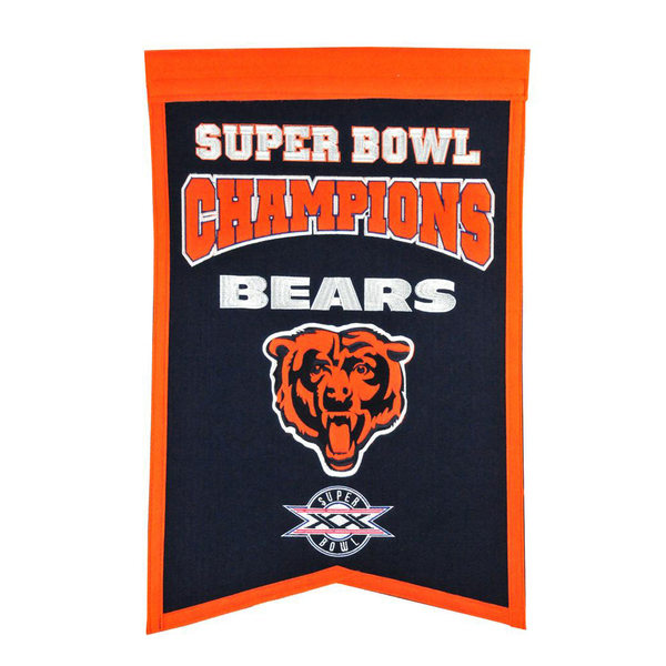 Chicago Bears Super Bowl Champs Banner