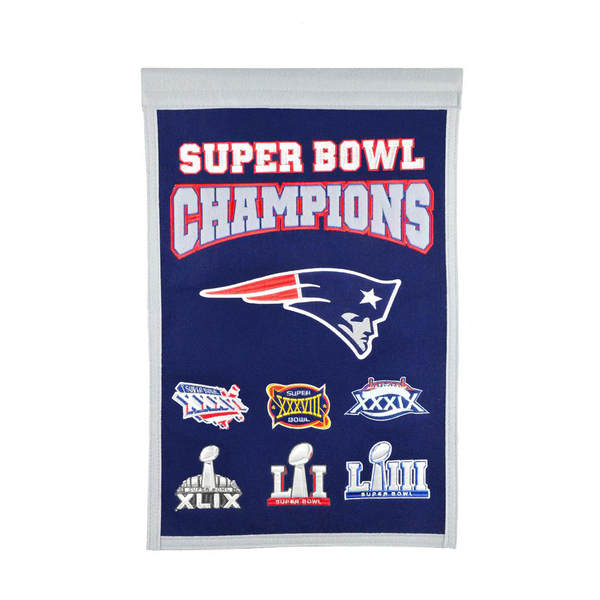 New England Patriots Super Bowl Champs Banner