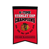 Chicago Blackhawks 6 Time Champions Banner