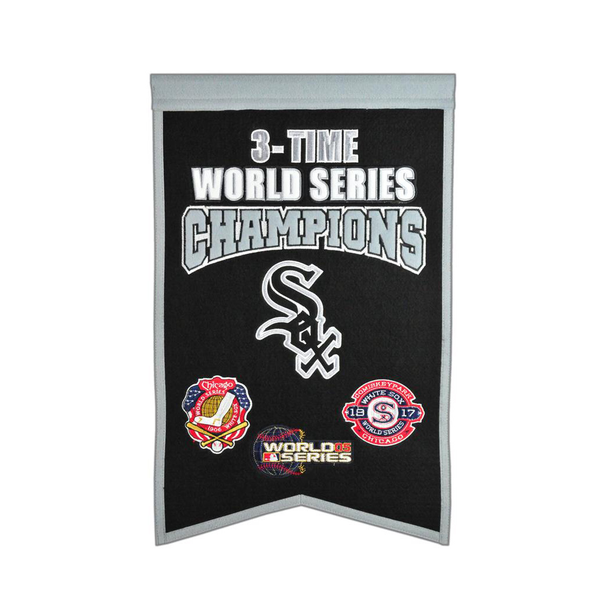 Chicago White Sox 3 Time WS Champions Banner