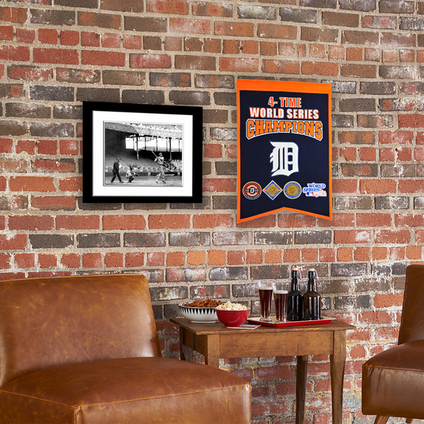 Detroit Tigers 4 Time WS Champions Banner