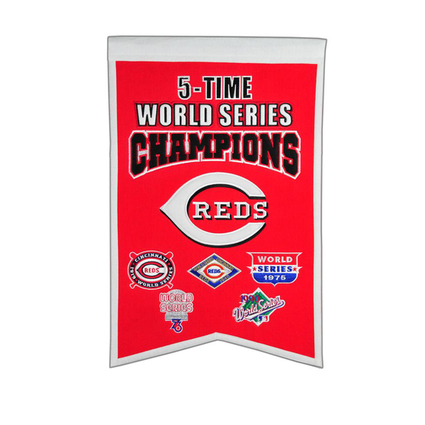 Cincinnati Reds 5 Time WS Champions Banner