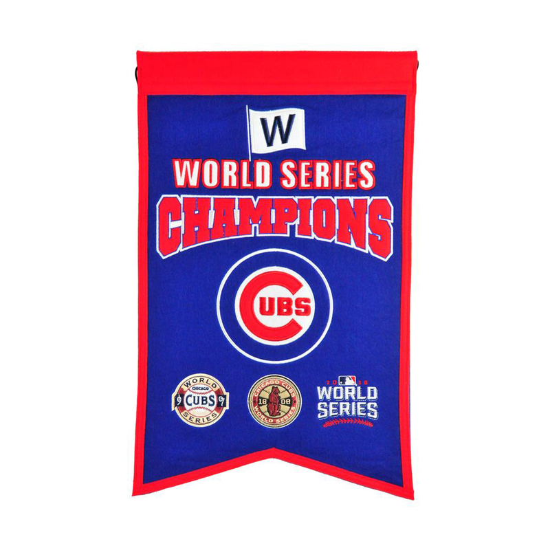 Chicago Cubs WS Champions Banner