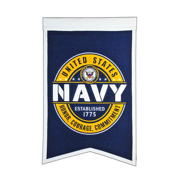 US NAVY Badge Blue Banner
