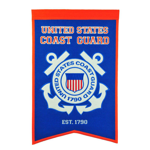 US COAST GUARD Badge Banner
