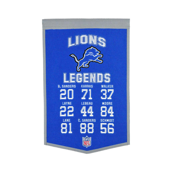Detroit Lions Legends Banner