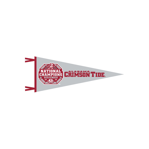 "Alabama 6""x15"" Pennant on Gray"