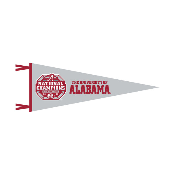 Alabama 9x24 Pennant on Gray