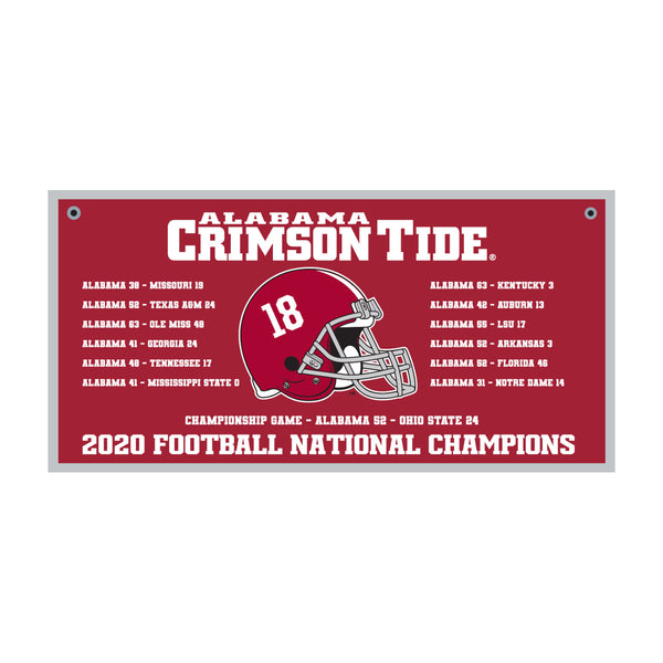 "Alabama 18""x36"" Schedule Banner"