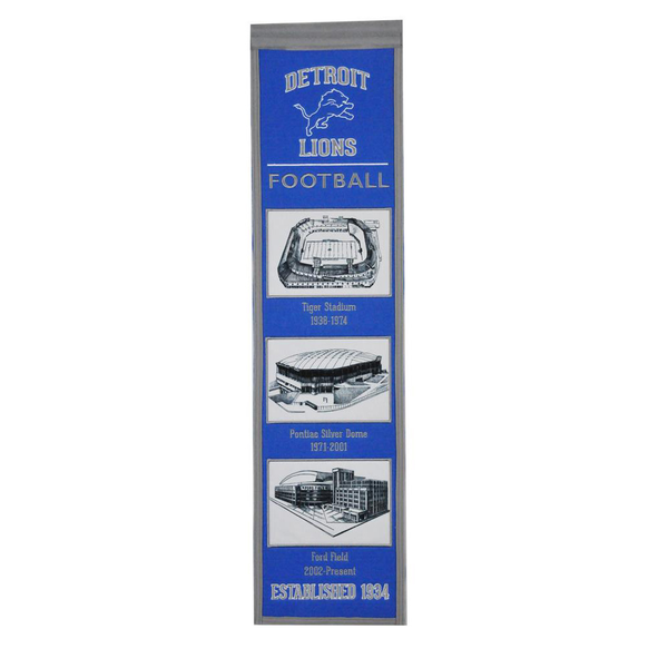 Detroit Lions Stadium Evolution Banner