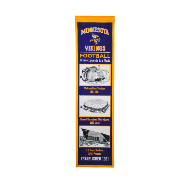 Minnesota Vikings Stadium Evolution Banner