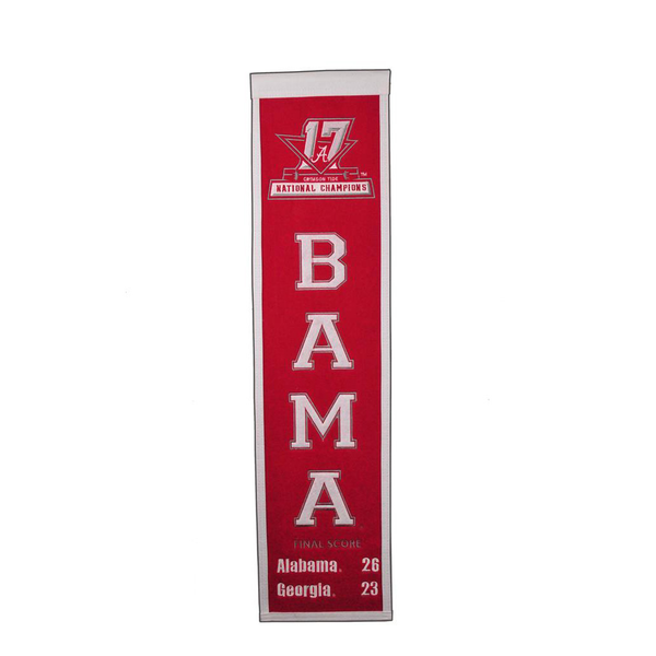 2017 NCAA Football Champs Heritage Banner