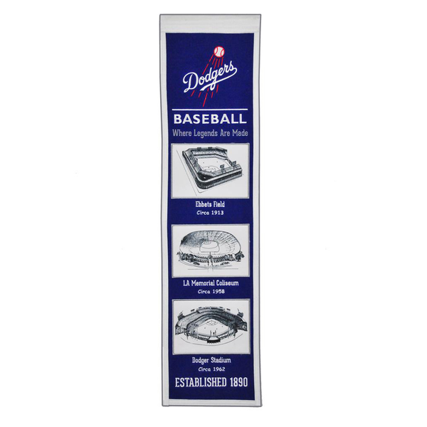 Los Angeles Dodgers Stadium Evolution Banner