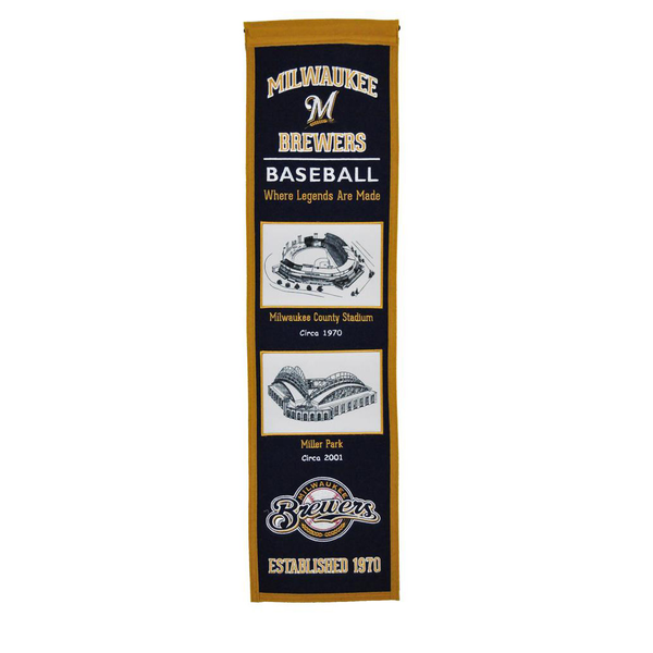 Milwaukee Brewers Stadium Evolution Banner