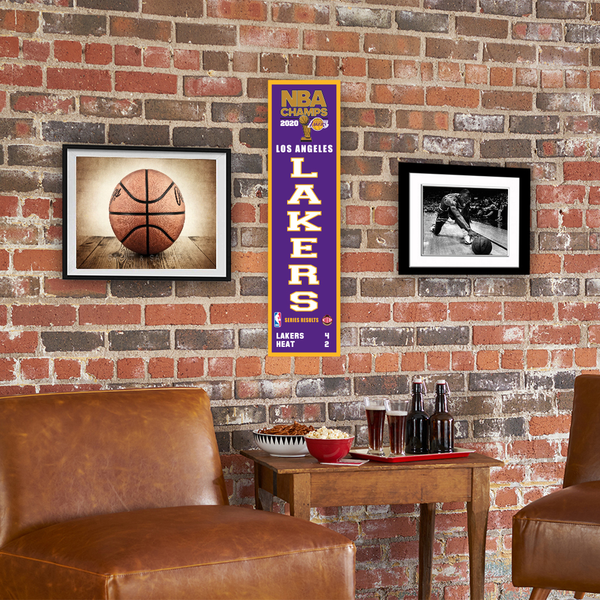 2020 NBA Champs Los Angeles Lakers Heritage Banner