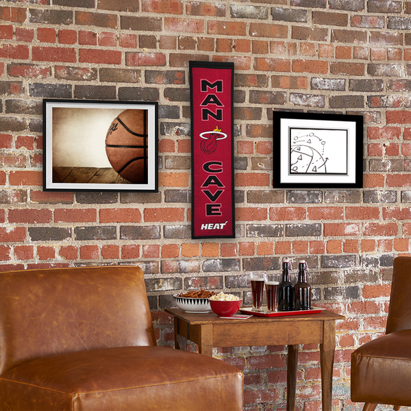 Miami Heat Man Cave Banner