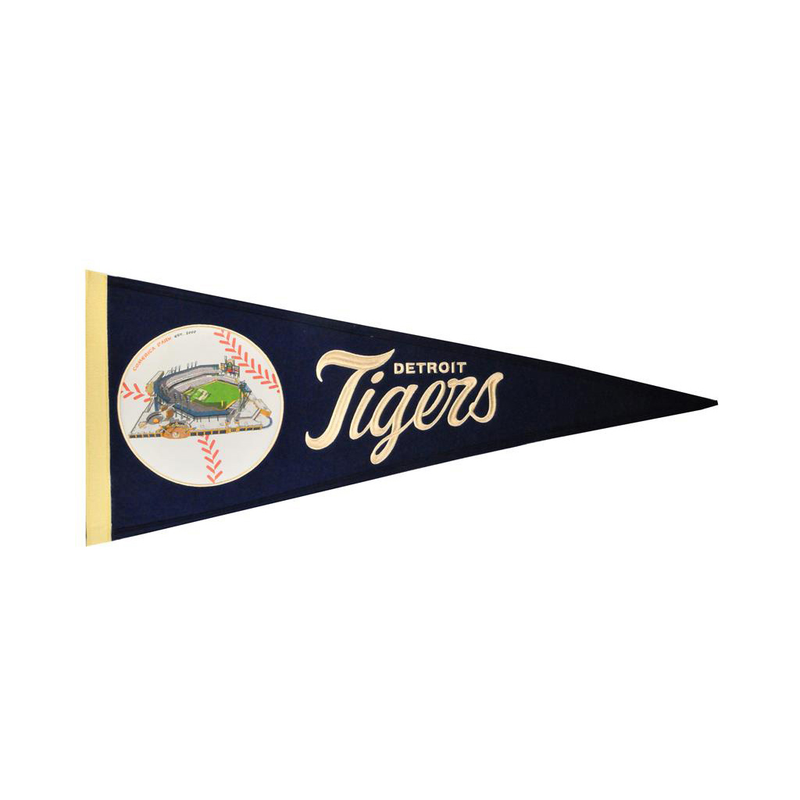 Detroit Tigers Ballpark Traditions Pennant