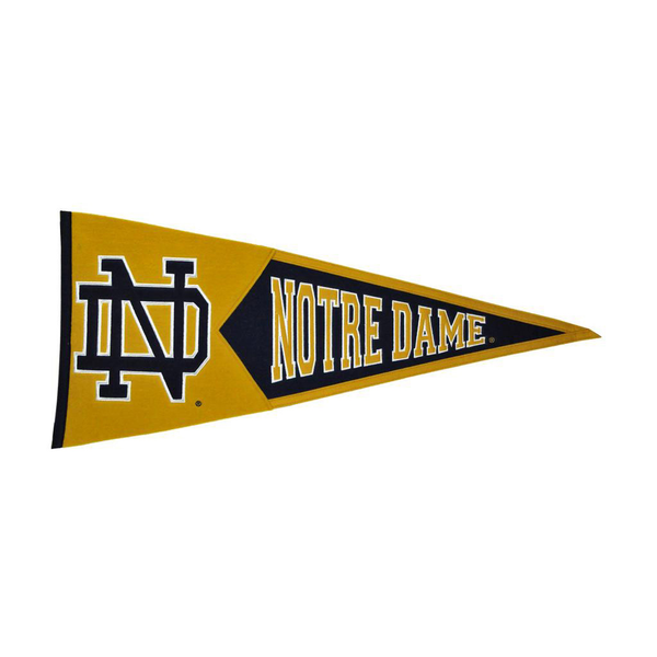 Notre Dame Interlock Traditions Pennant