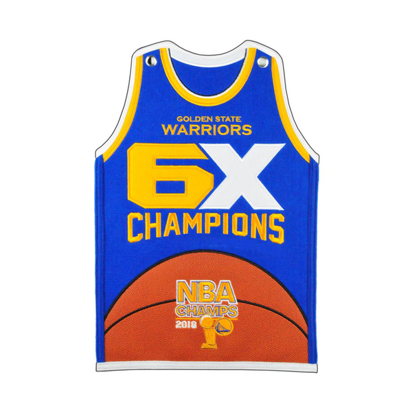2018 NBA Champs Golden State Warriors Jersey Traditions Banner