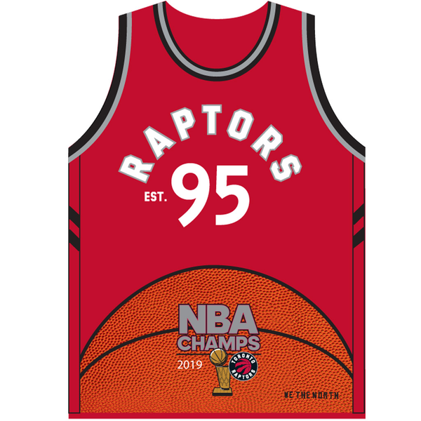 2019 NBA Champs Toronto Raptors Jersey Traditions Banner