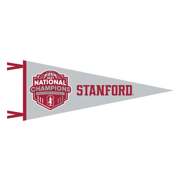 Stanford Women's 9x24 Gray Champ Pennant