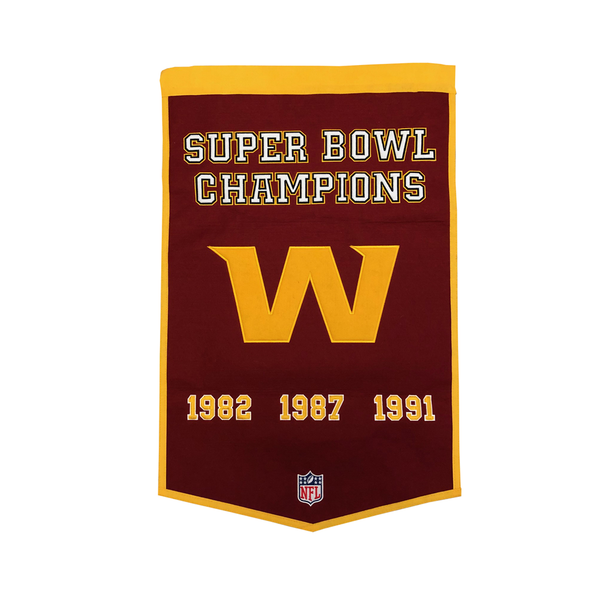 Washington Football 3x Super Bowl Champs Banner