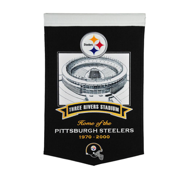 Three Rivers Stadium Steelers Banner