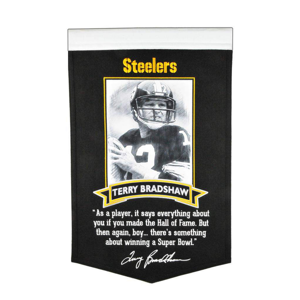 Bradshaw Steelers Icon Collection Banner