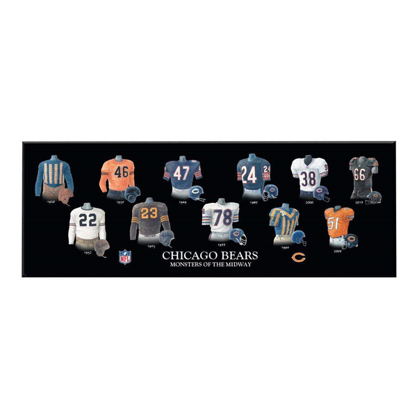 Chicago Bears Legacy Uniform Plaque