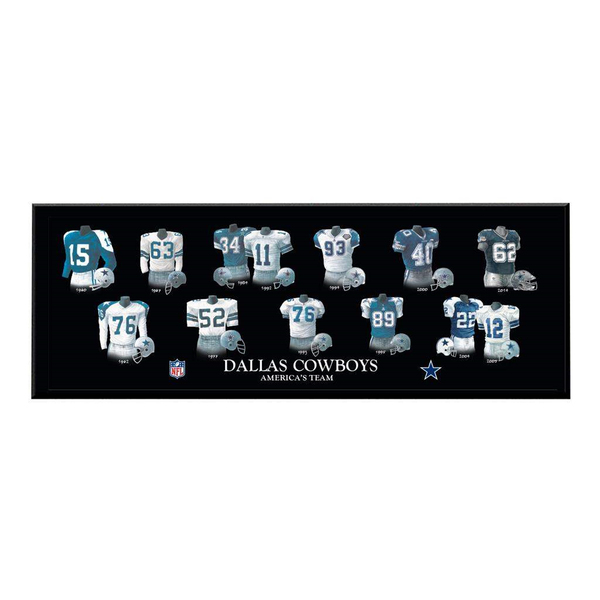 Dallas Cowboys Legacy Uniform Plaque