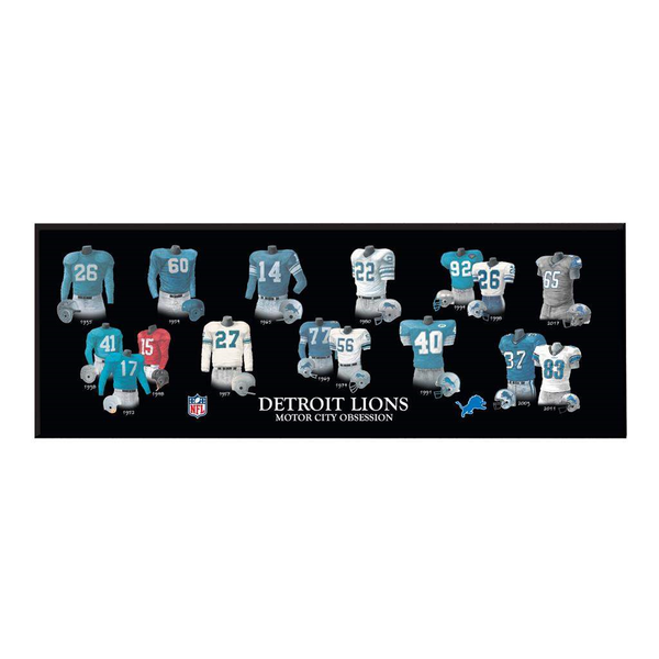 Detroit Lions Legacy Uniform Plaque