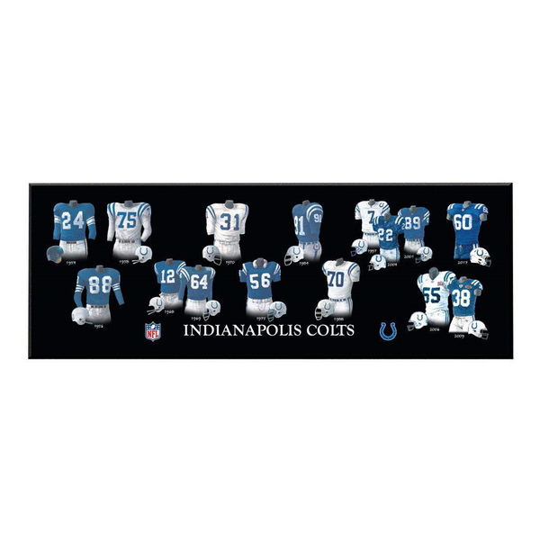 Indianapolis Colts Legacy Uniform Plaque