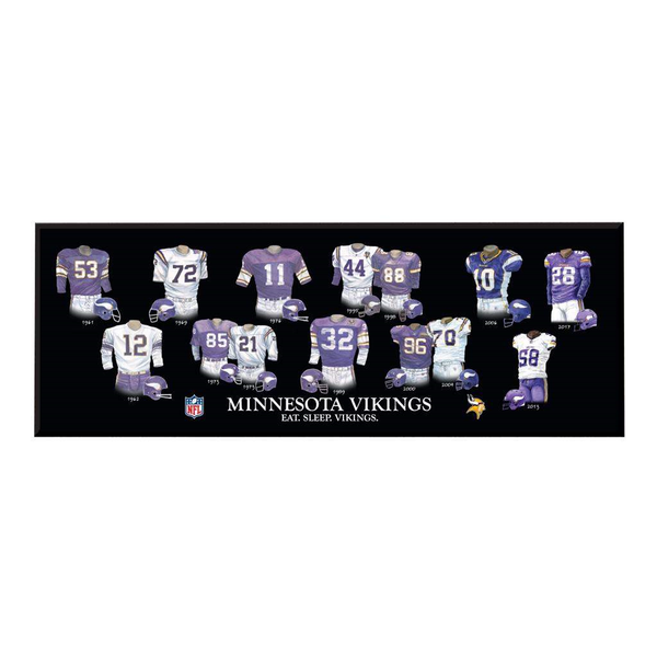 Minnesota Vikings Legacy Uniform Plaque